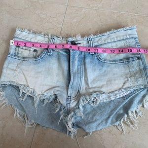 Carmar Shorts - LF Carmar High Waist Jean Shorts